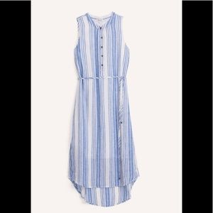 NWT Splendid Henley Blue/White Stripe Dress Small
